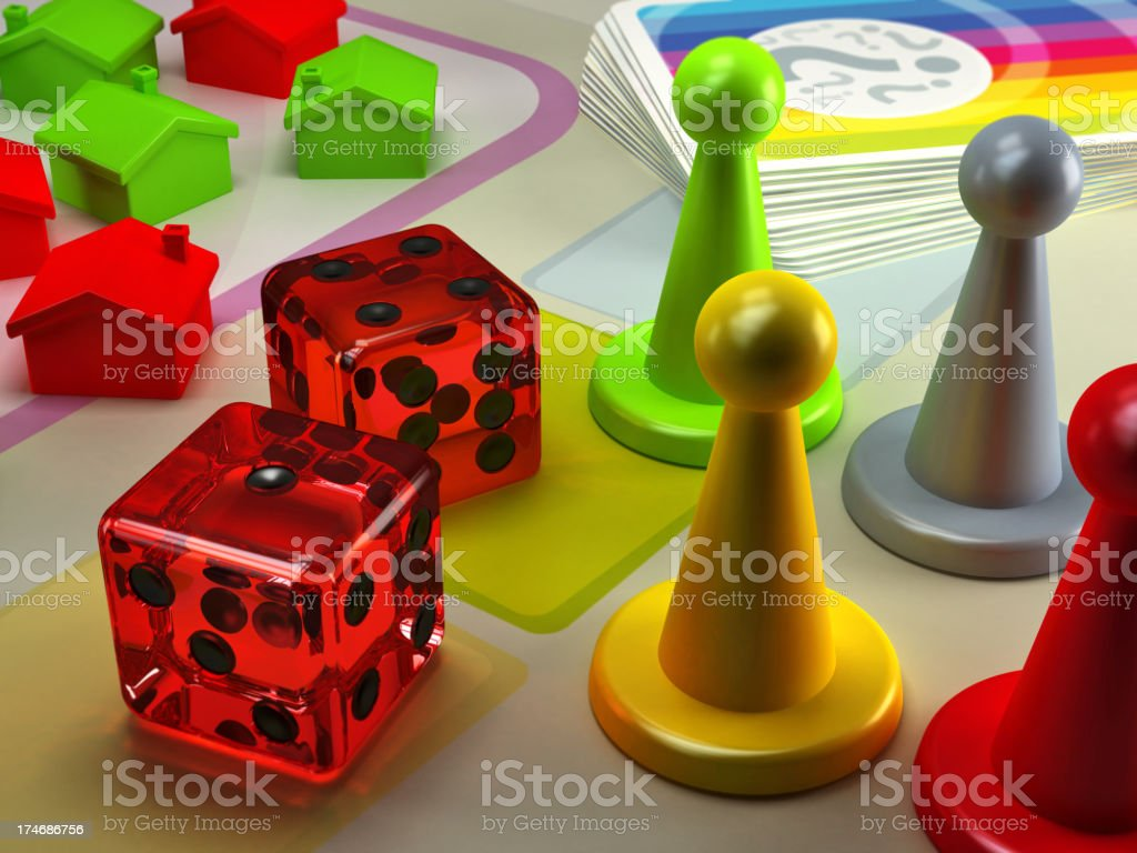 Board game royalty-free stock photo