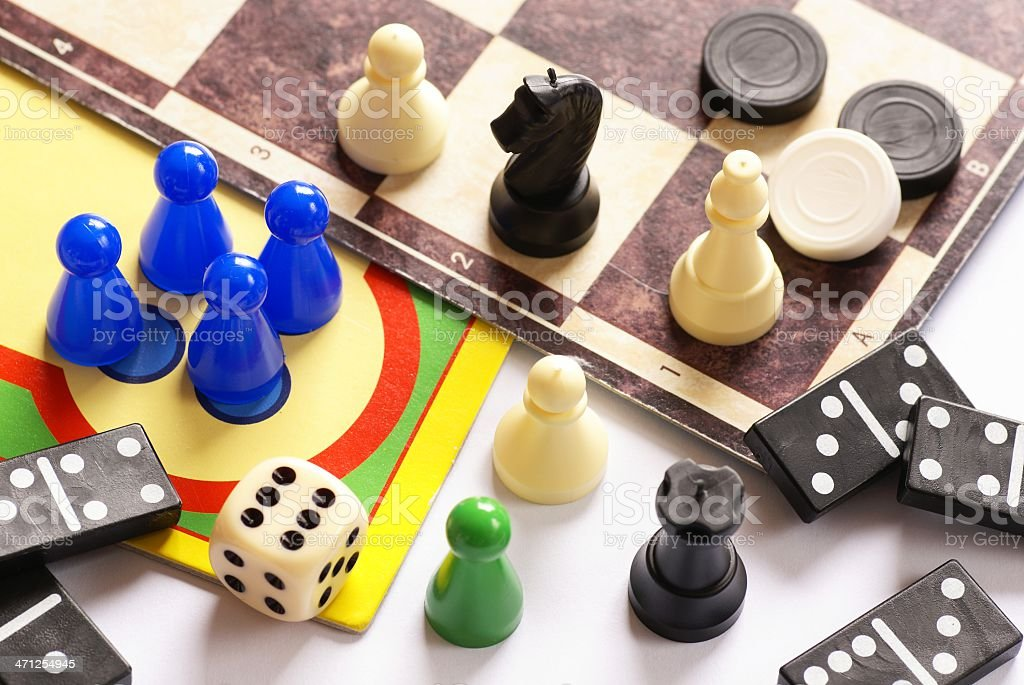 Board games  detail stock photo