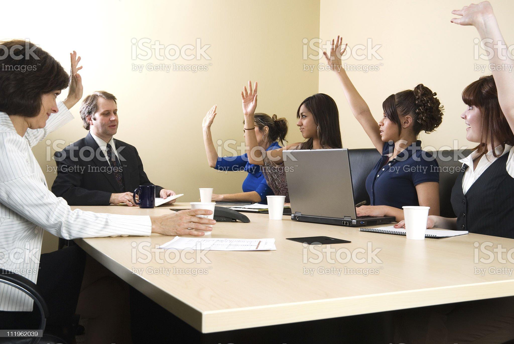 Board meeting royalty-free stock photo