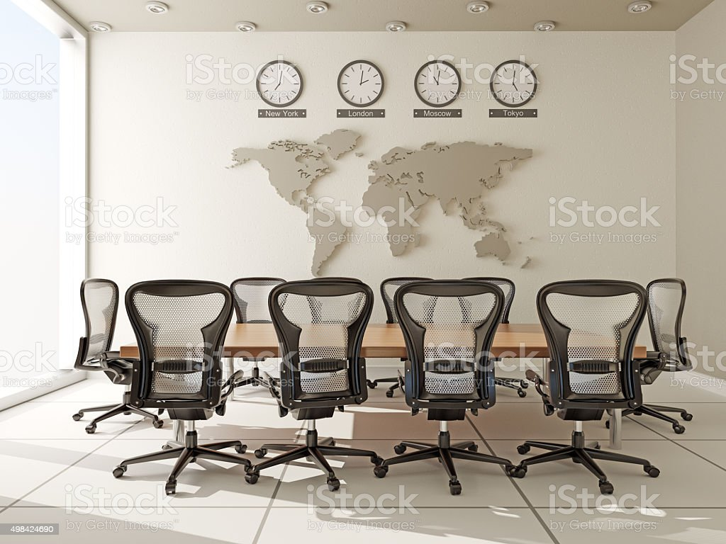 Board Room in Modern Office stock photo
