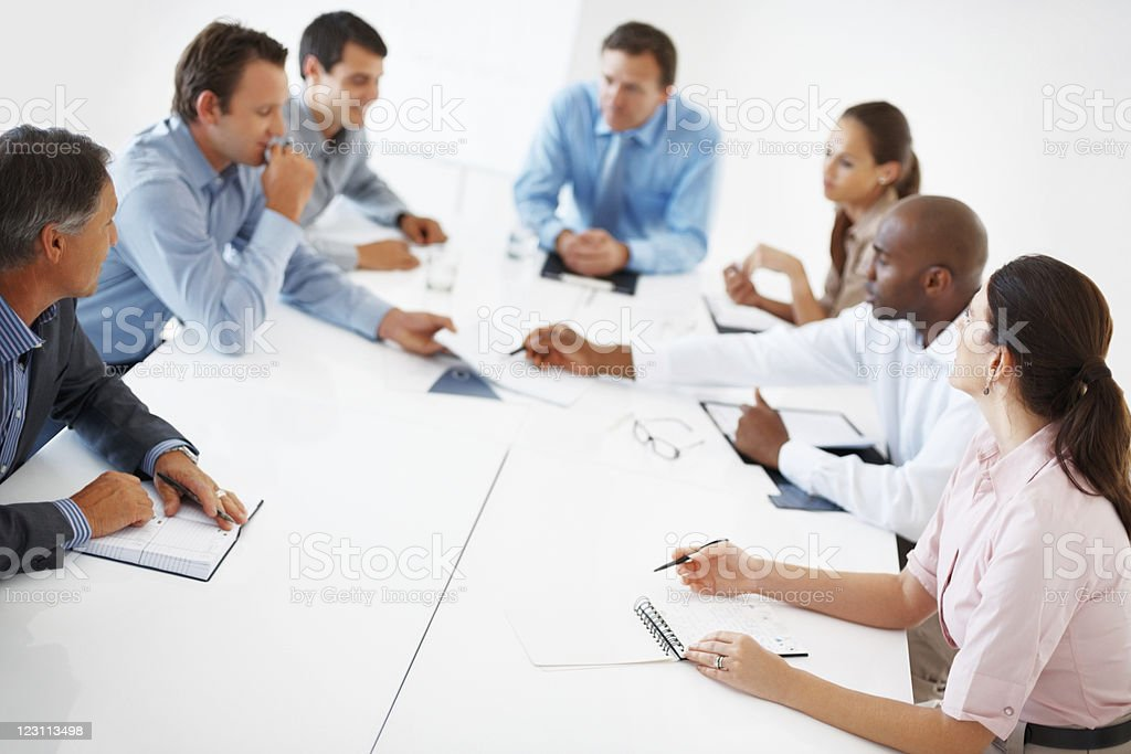 Board room meeting royalty-free stock photo
