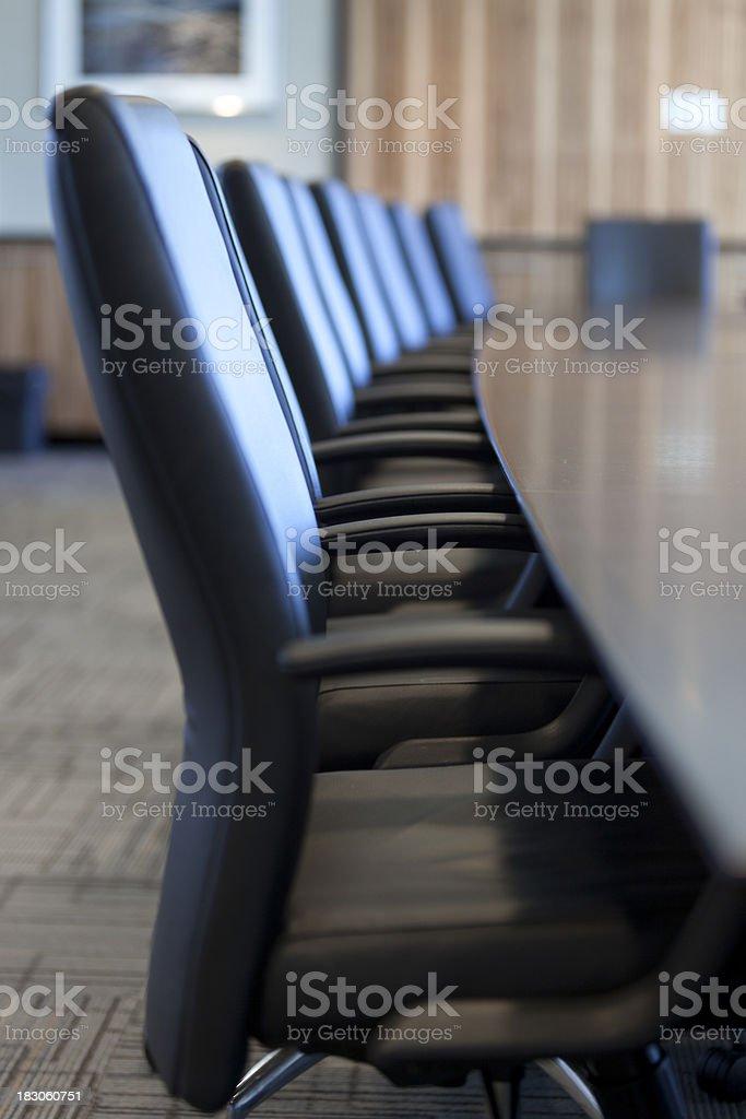 Board Room Row of Chairs stock photo