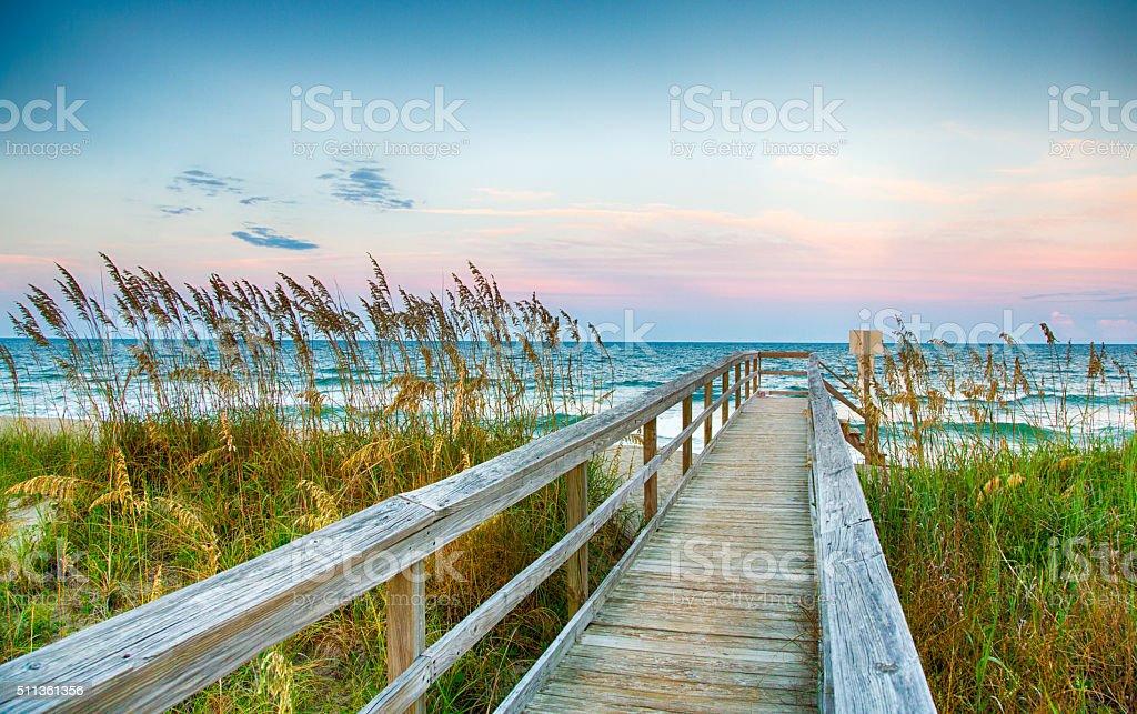 Board Walk on the Beach royalty-free stock photo