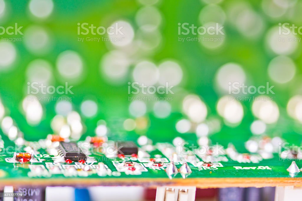 board with many electrical components royalty-free stock photo