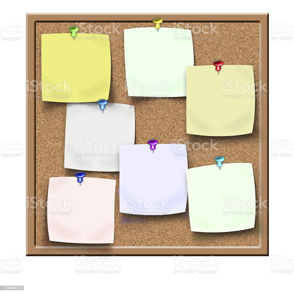 board with reminders royalty-free stock photo