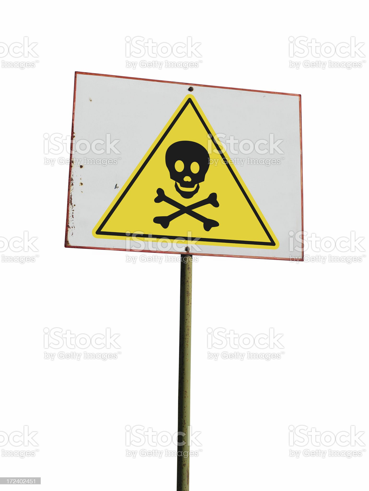 Board with skull sign royalty-free stock photo