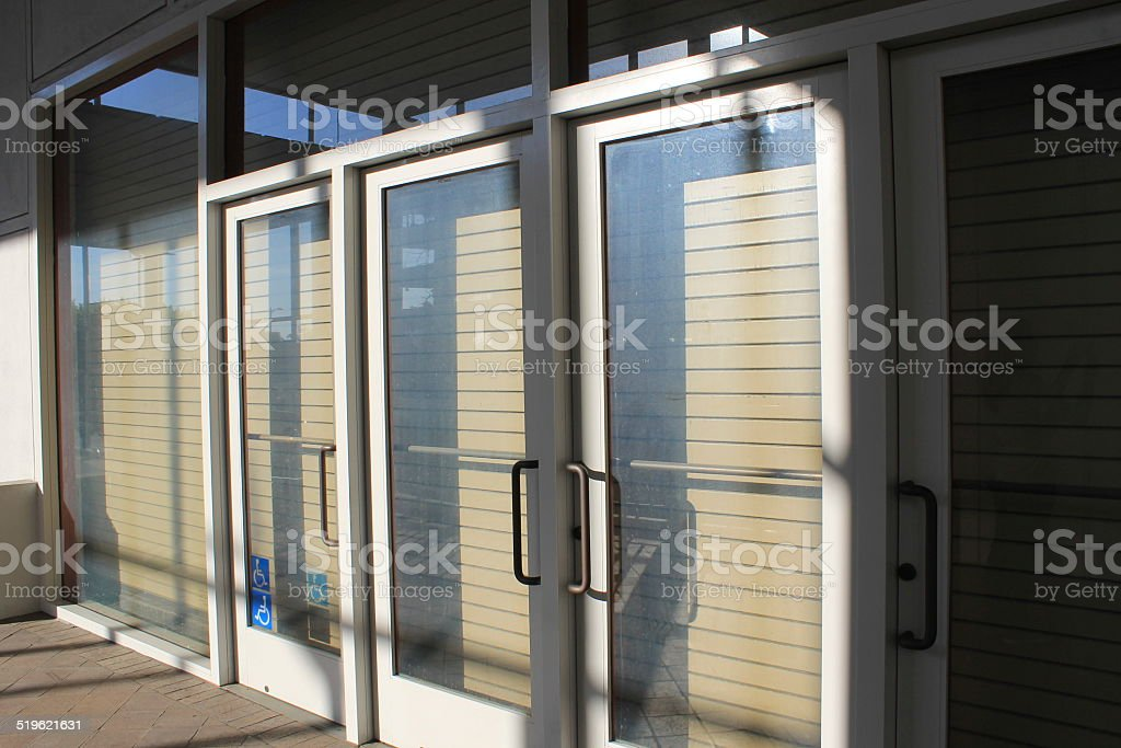 Boarded Entrance stock photo