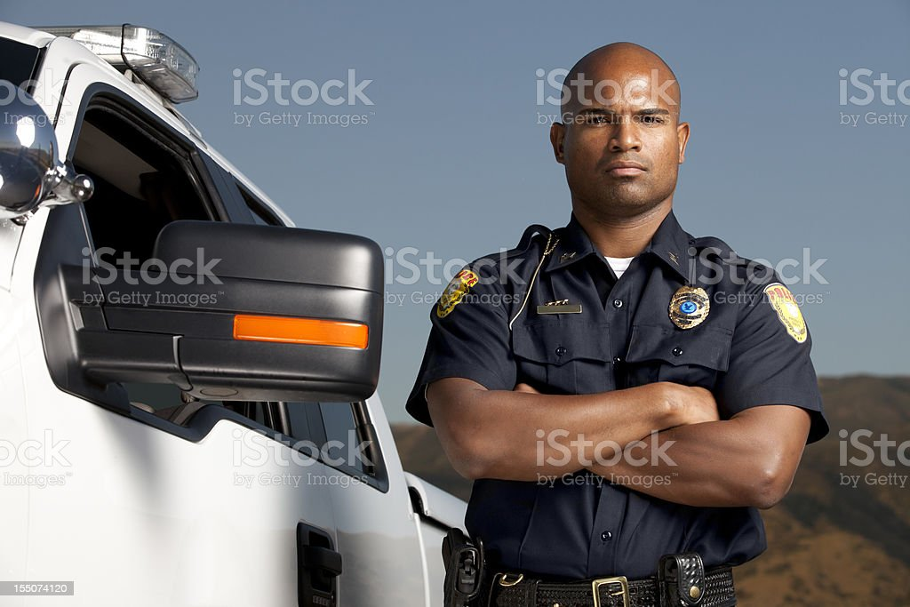 Boarder Patrol Agent stock photo