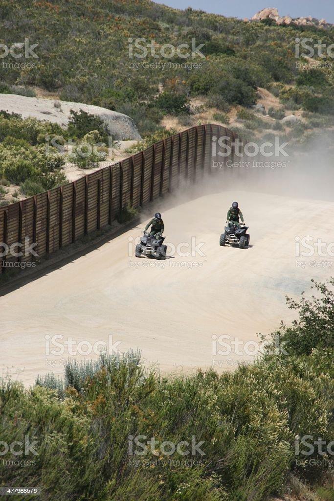 Boarder Patrol stock photo