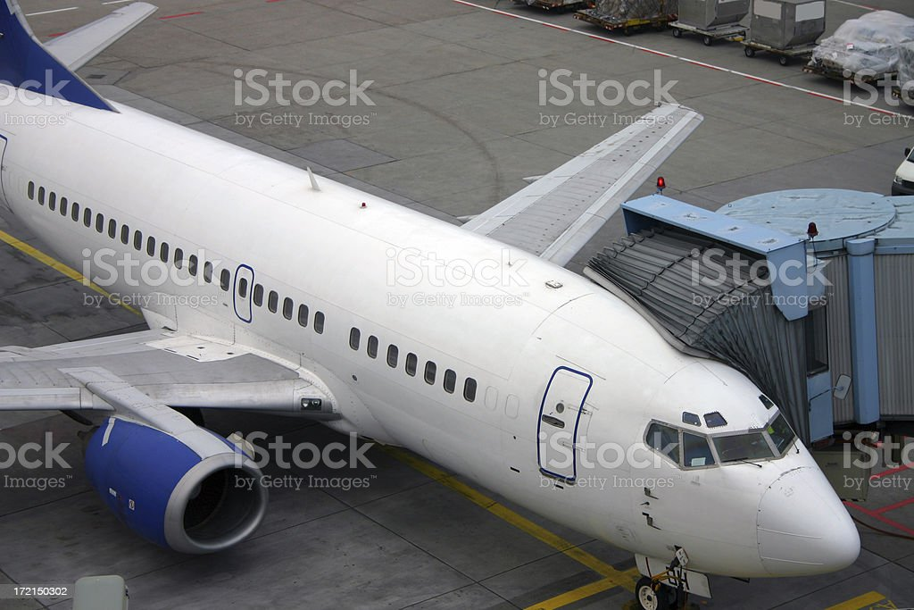Boarding an airplane royalty-free stock photo