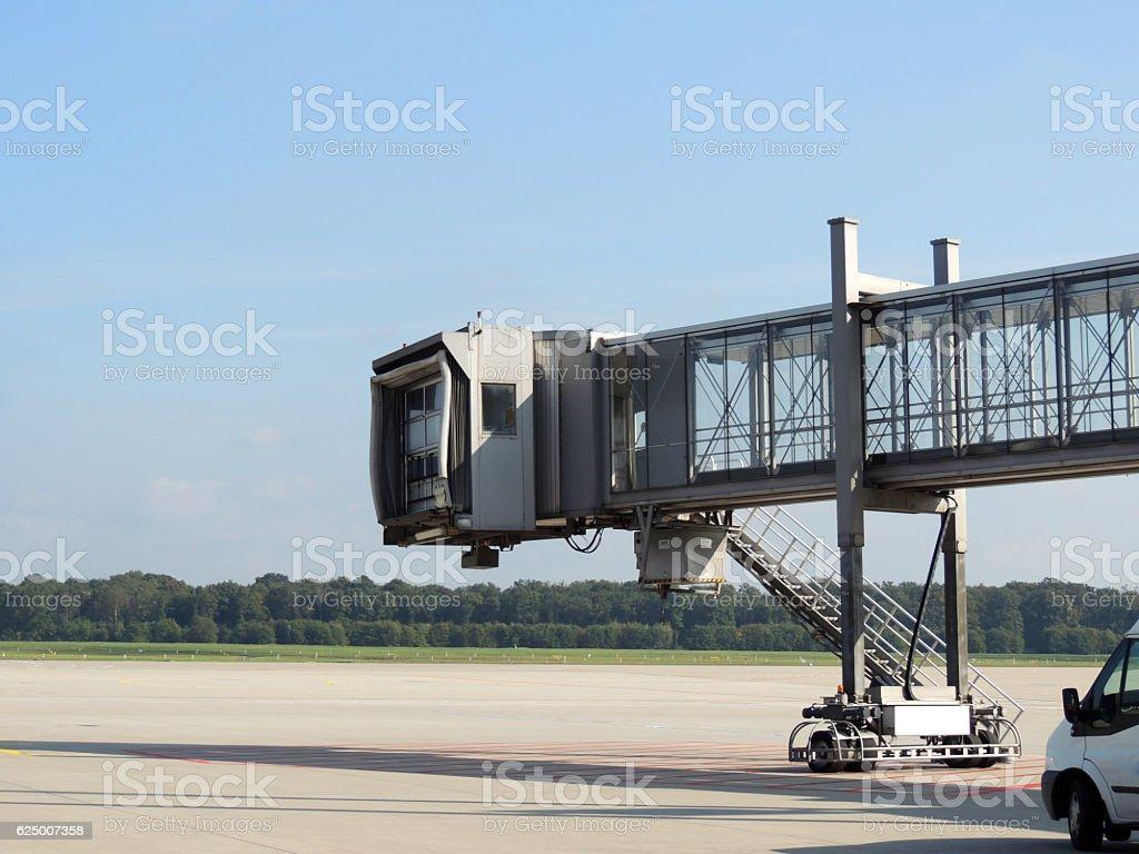 Boarding bridge stock photo