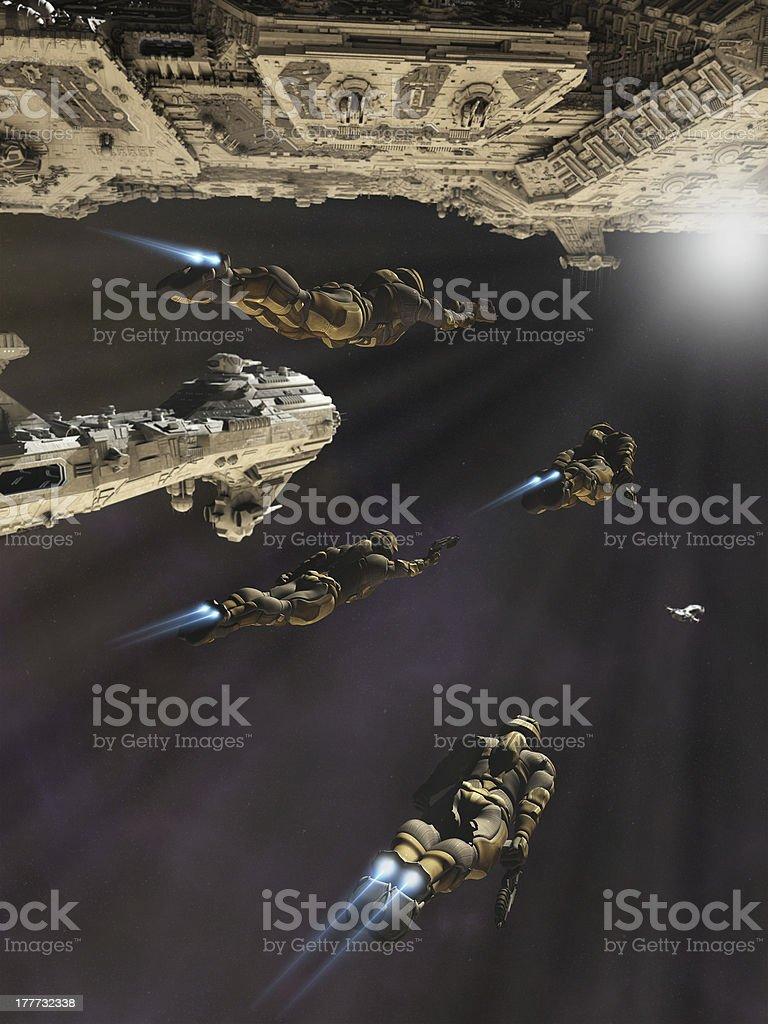 Boarding Party stock photo