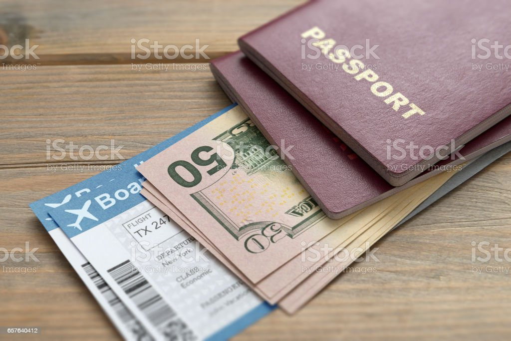 Boarding pass card stock photo