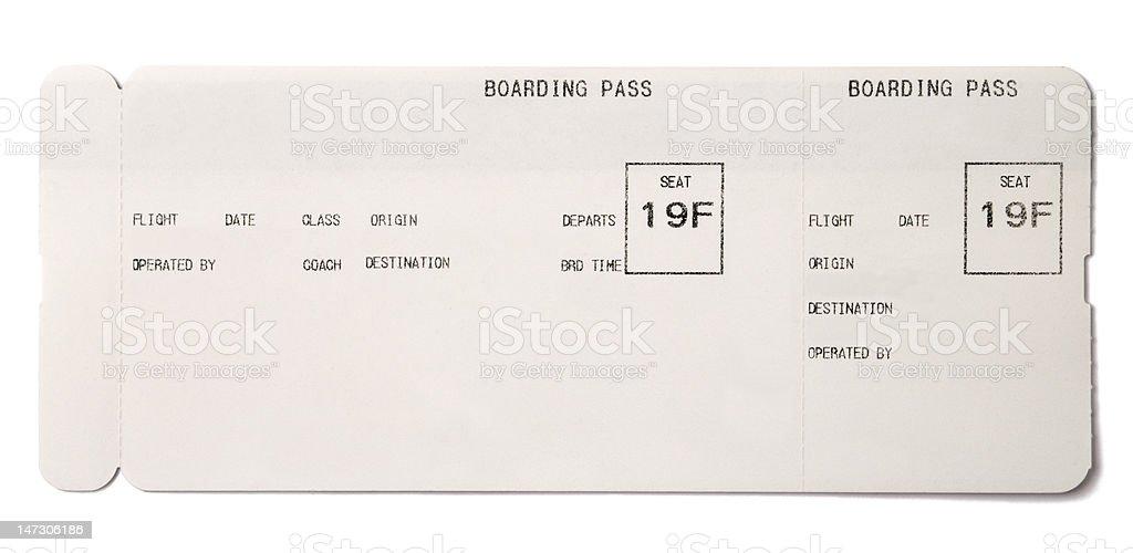 Boarding pass stock photo