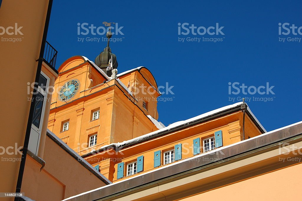 Boarding School / College of the Alps royalty-free stock photo
