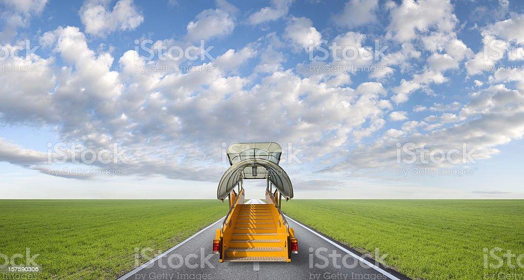 Boarding steps royalty-free stock photo