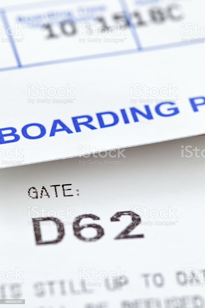 Boarding tickets royalty-free stock photo