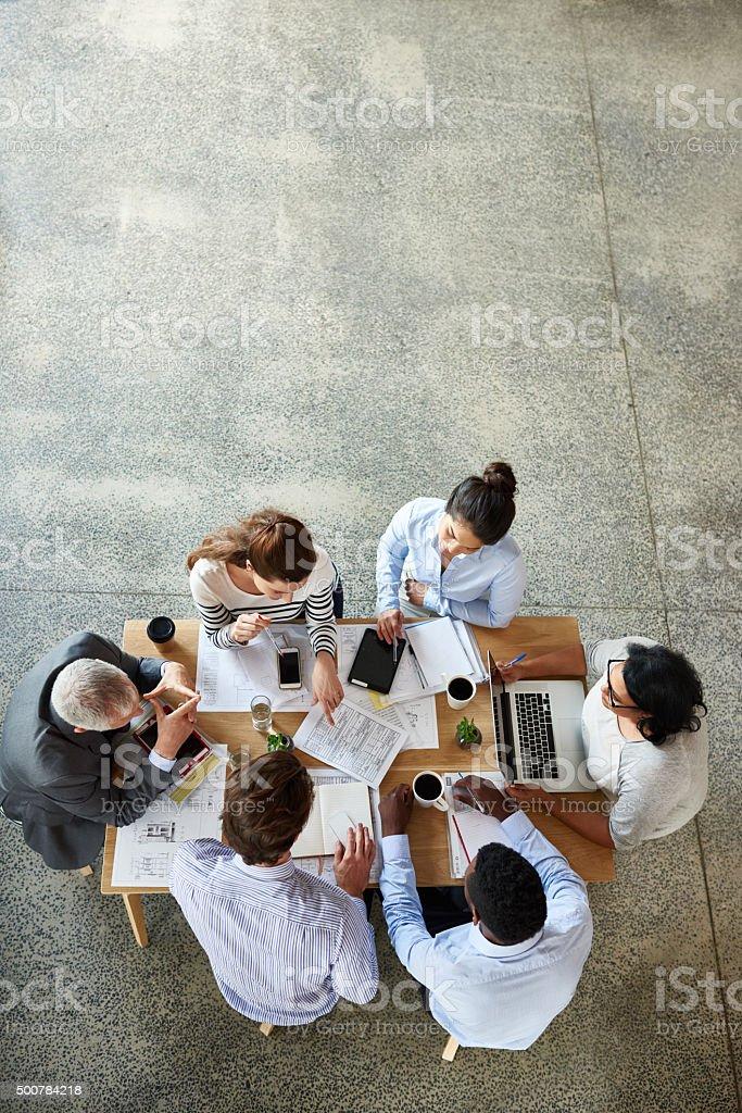 Boardroom brainstorming stock photo