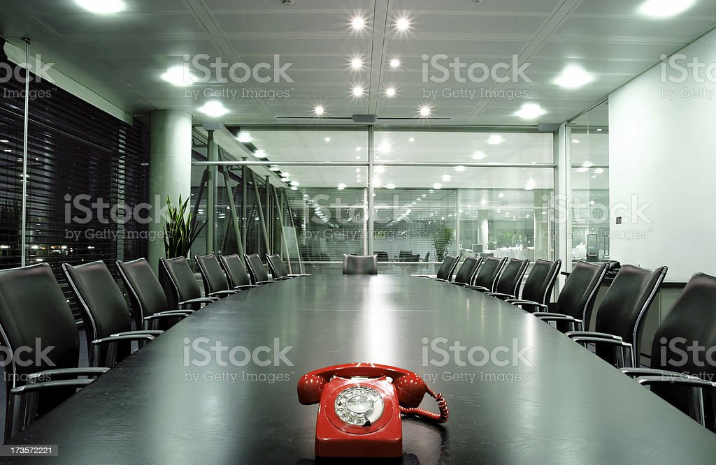 Boardroom call royalty-free stock photo