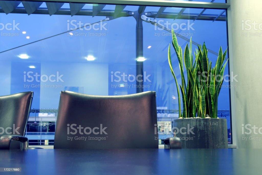 Boardroom chair stock photo