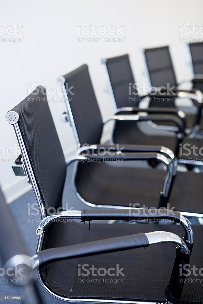 Boardroom chairs royalty-free stock photo