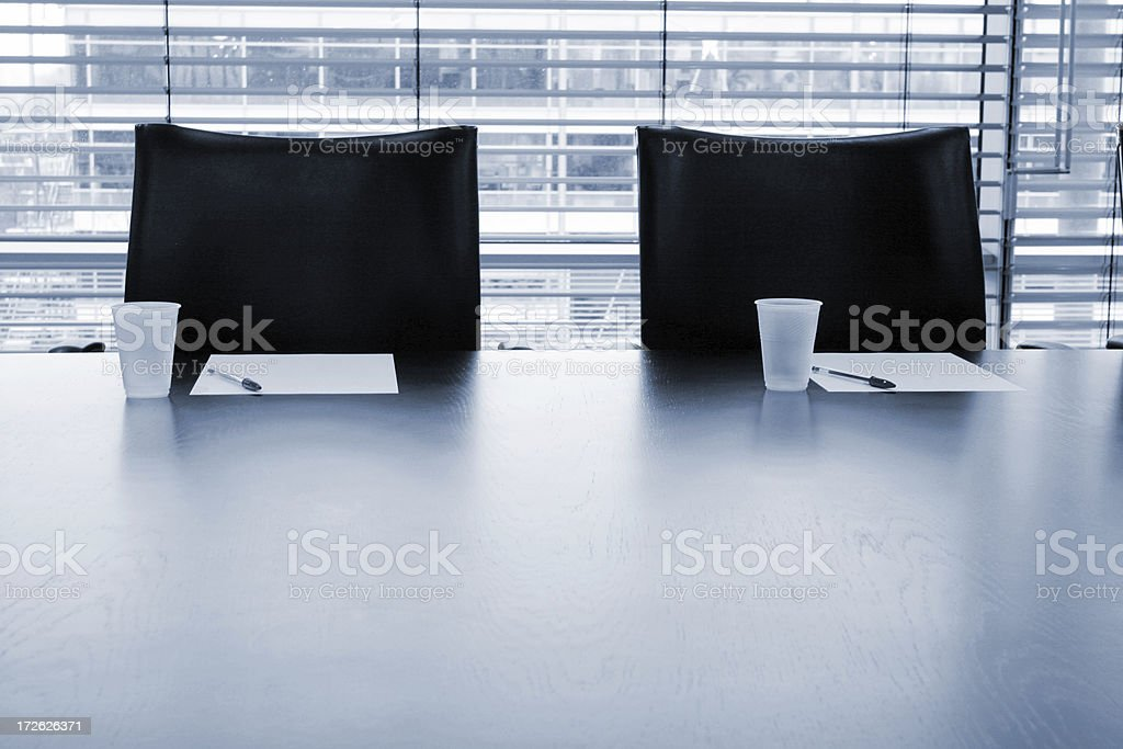 Boardroom chairs stock photo