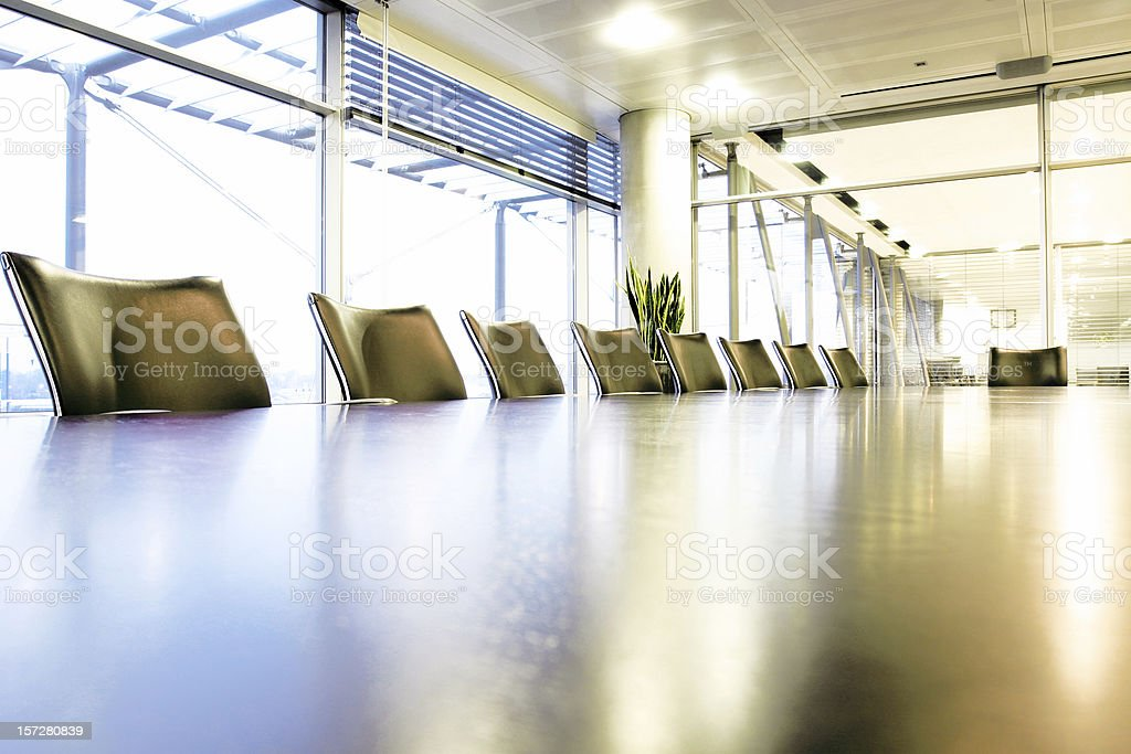 Boardroom chairs, wide angle royalty-free stock photo