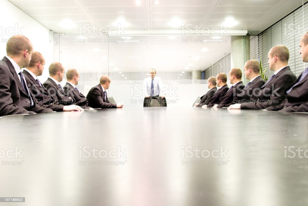 Boardroom chat stock photo