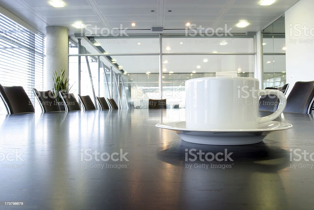 Boardroom coffee royalty-free stock photo