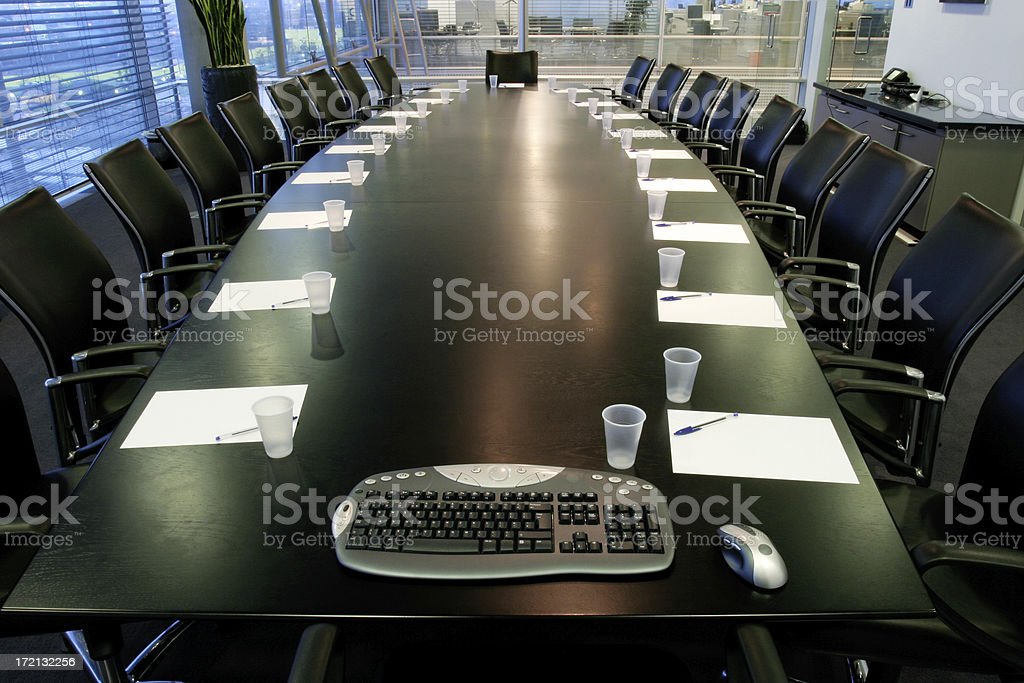 Boardroom control 3 stock photo