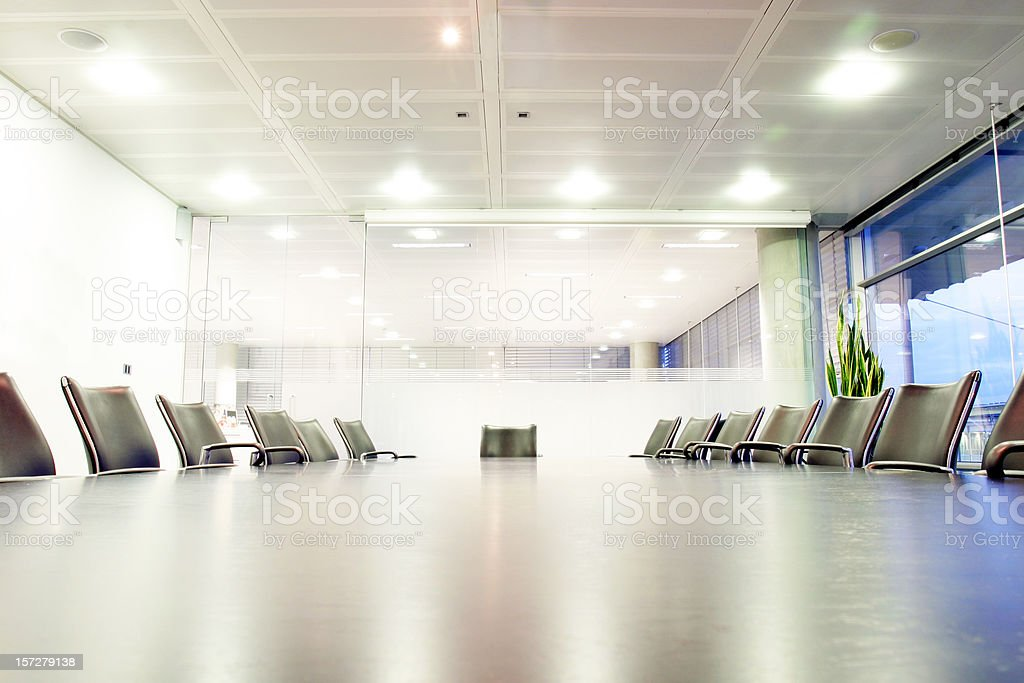 Boardroom, high key royalty-free stock photo