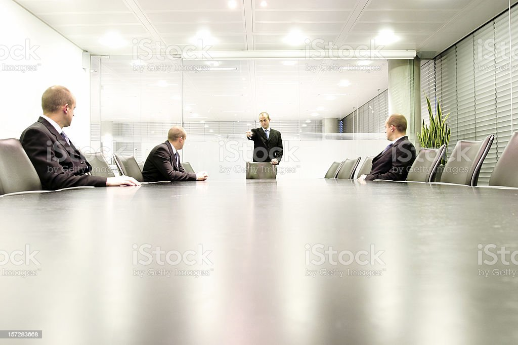 Boardroom meet 3 stock photo