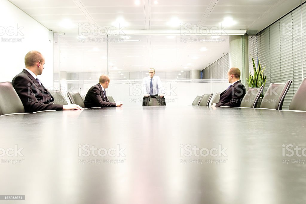Boardroom meet 4 stock photo