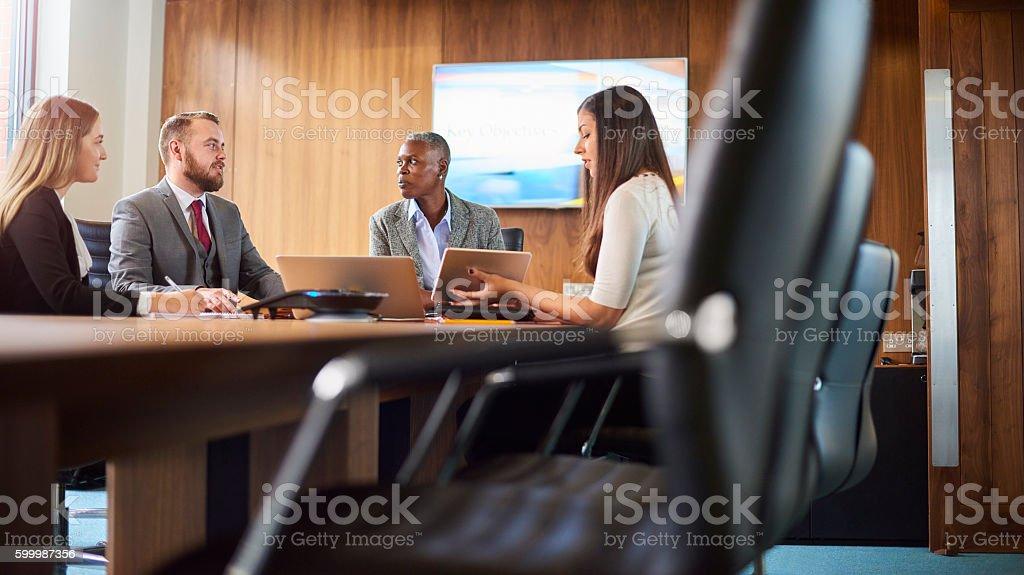 boardroom meeting stock photo
