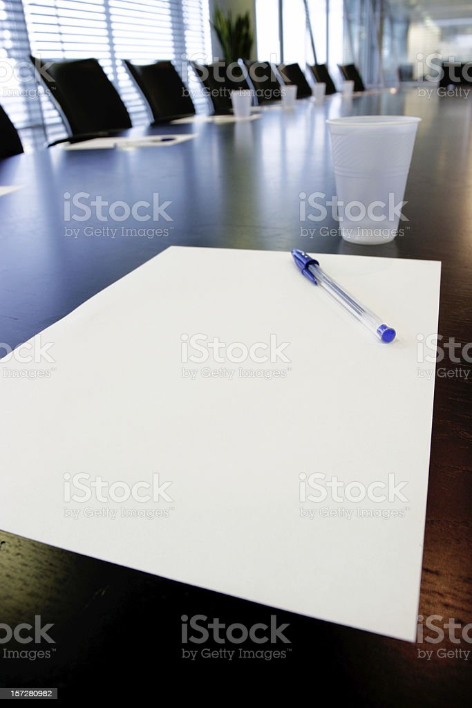 Boardroom notes 2 royalty-free stock photo