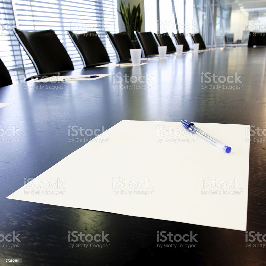 Boardroom notes stock photo