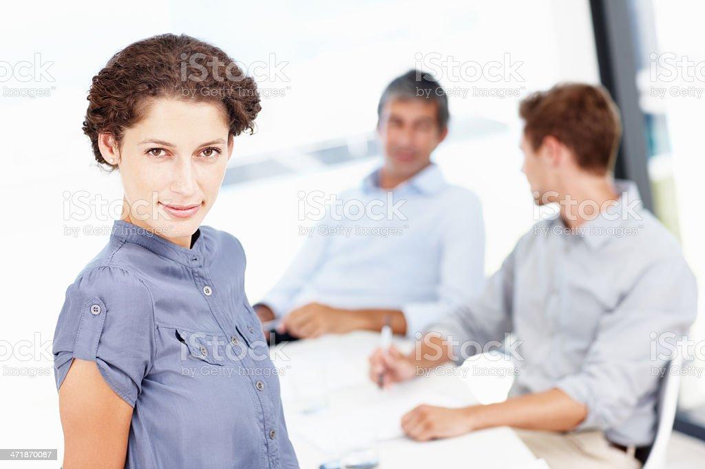Boardroom positivity royalty-free stock photo