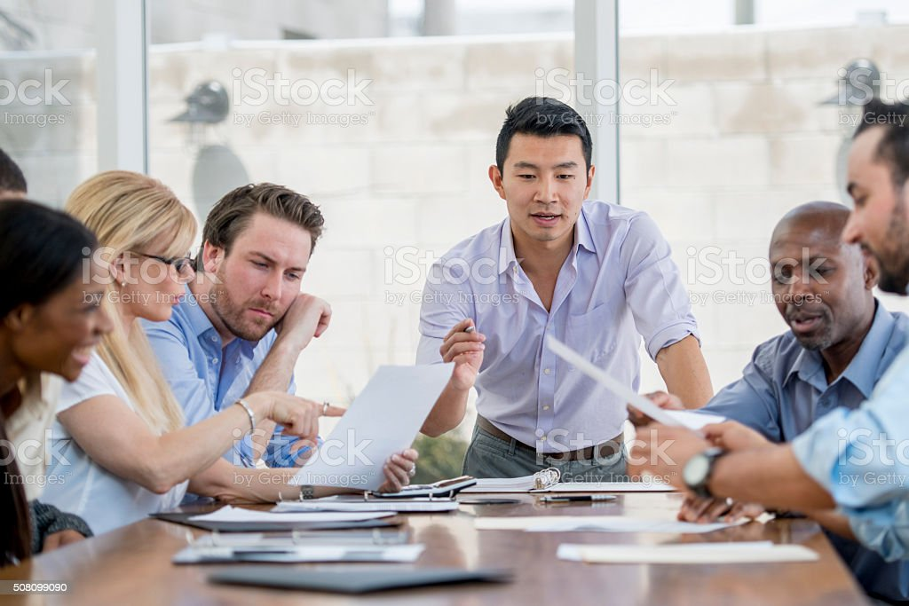 Boardroom Presentation stock photo
