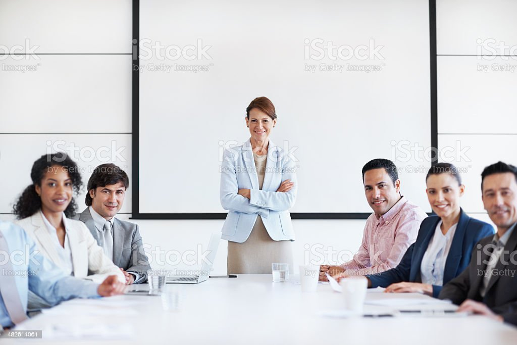 Boardroom professionals royalty-free stock photo