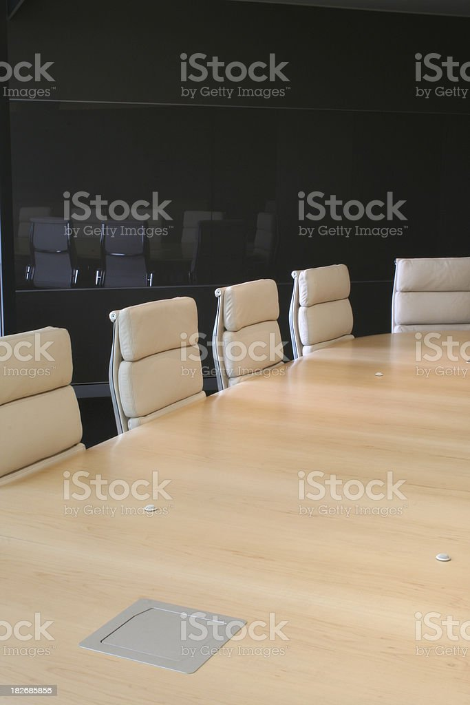 Boardroom table and seats royalty-free stock photo