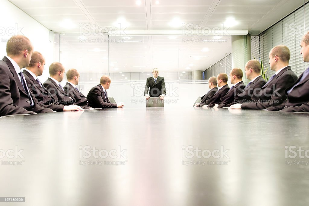 Boardroom talk stock photo