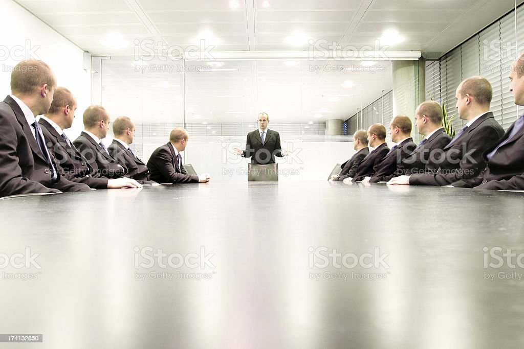 Boardroom talk royalty-free stock photo