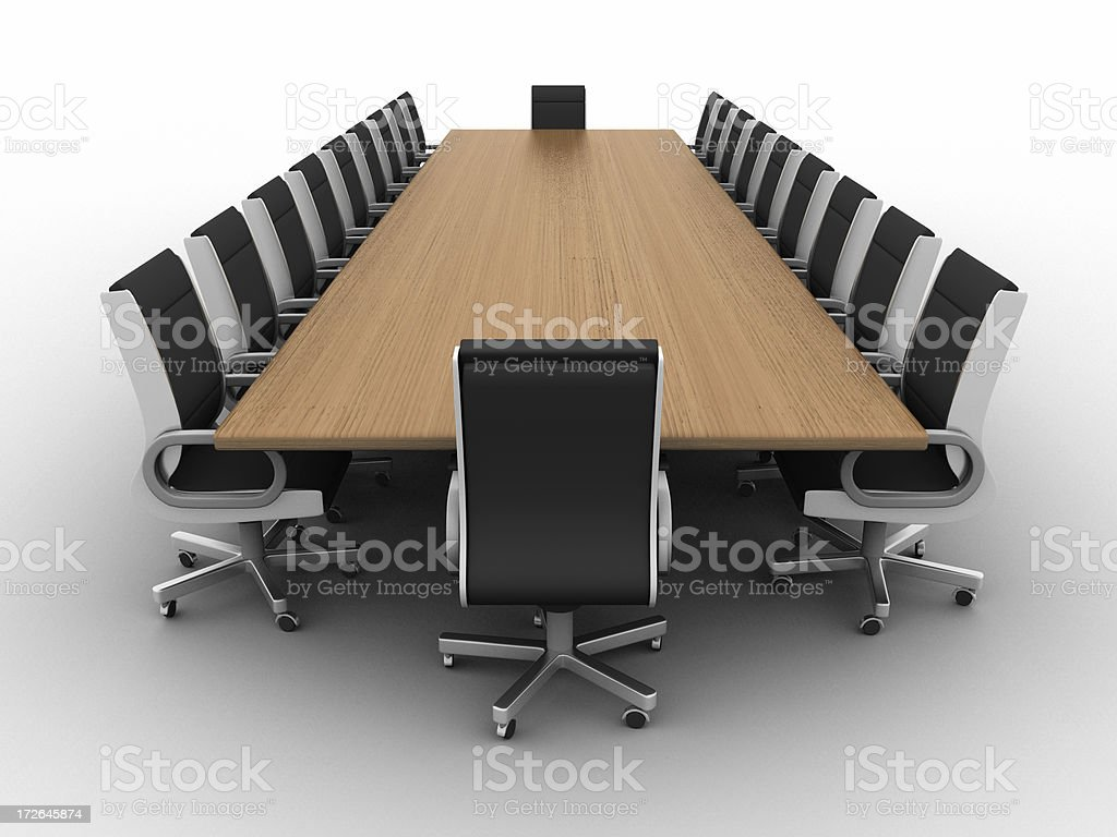 Boardroom w/clipping path 01 royalty-free stock photo
