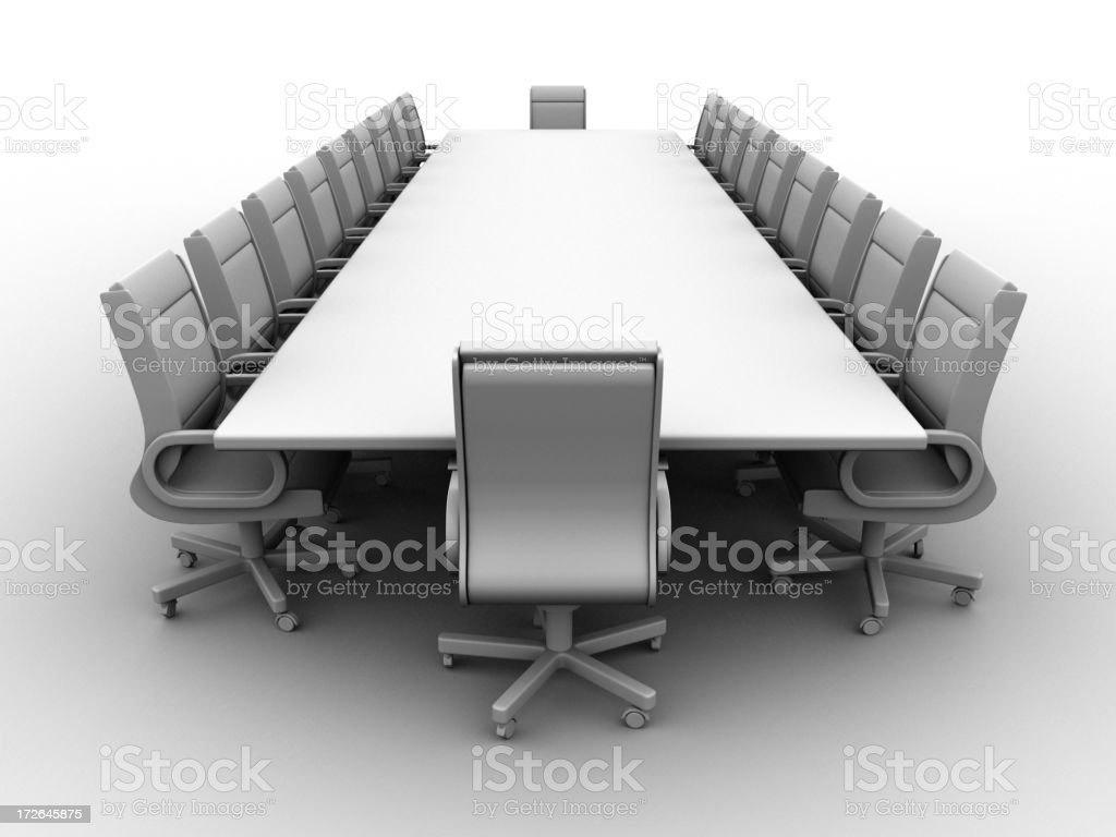 Boardroom w/clipping path 02 royalty-free stock photo