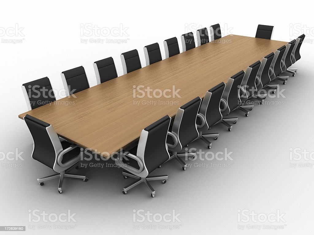 Boardroom w/clipping path 03 royalty-free stock photo