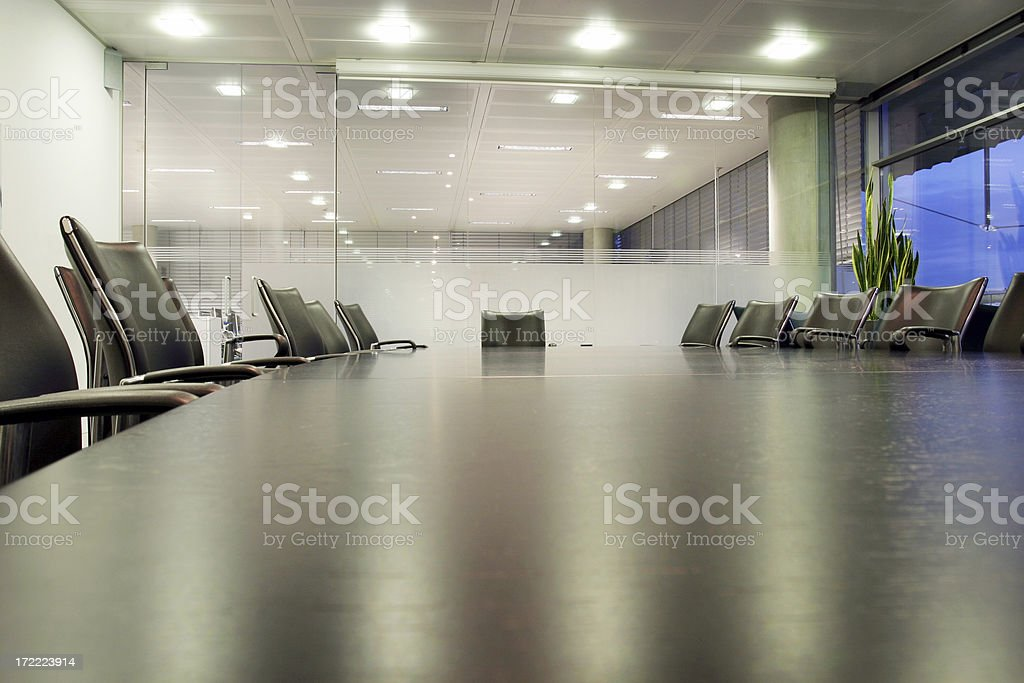 Boardroom wide angle royalty-free stock photo
