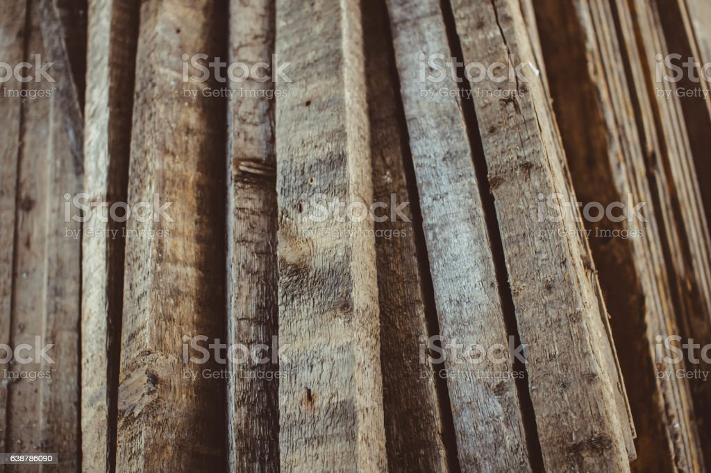 boards lie in a pile stock photo