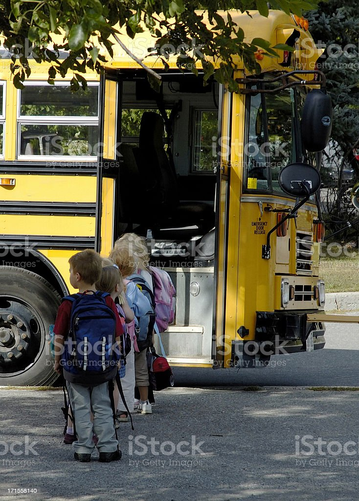 Boarduing School Bus royalty-free stock photo