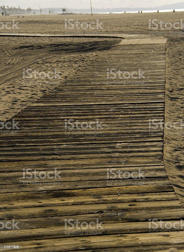 Boardwalk beach royalty-free stock photo