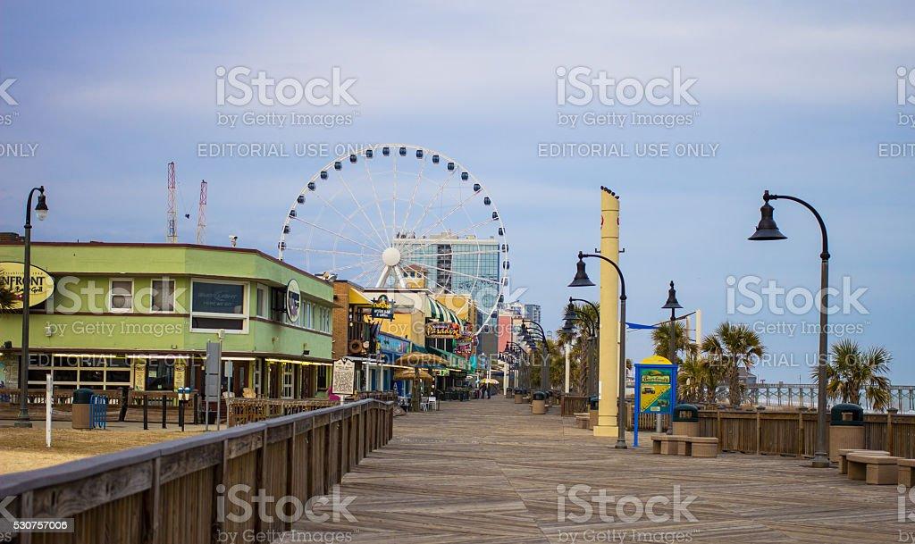Boardwalk In Myrtle Beach South Carolina stock photo